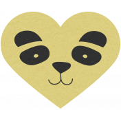 Chinese New Year Panda Heart