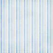 Stripes 52 Paper- Blue & White
