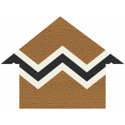 Egypt Arrow- Brown Chevron