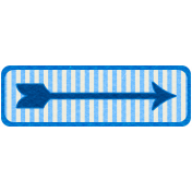 Egypt Tags- Blue Arrow & Stripes