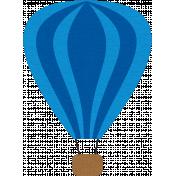 Hot Air Balloon- Blue Balloon