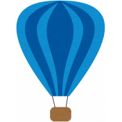 Hot Air Balloon- Blue Balloon