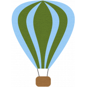 Hot Air Balloon- Green Balloon