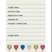 Hot Air Balloon- Journal Card