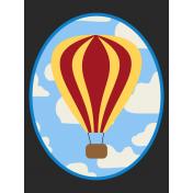 Hot Air Balloon- Balloon Journal Card- Red & Yellow