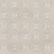 Damask 16 Paper- Tan & White
