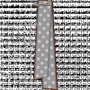 Folded Ribbon- Gray Polka Dots