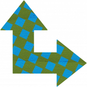 Egypt Arrow- Blue & Green Corner Arrow