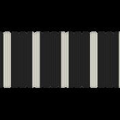 Egypt Ribbon- Black & White Fat