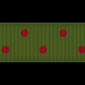 Egypt Ribbon- Green & Red Polka Dots