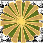 Egypt Flowers- Green & Yellow
