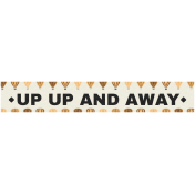 Hot Air Balloon- Up Up & Away Label