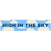 Hot Air Balloon- High In The Sky Label