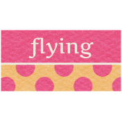 Hot Air Balloon- Flying Label