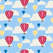 Hot Air Balloon- Balloon & Cloud Paper