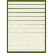Egypt- Striped Journal Card- Green