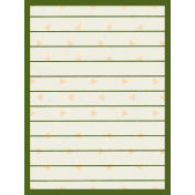 Egypt- Striped Journal Card- Green