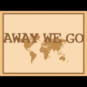 Egypt- Away We Go Journal Card