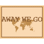 Egypt- Away We Go Journal Card