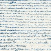 Egypt- Glyphs Paper- Blue & White