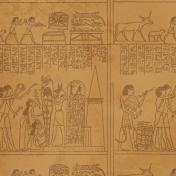 Egypt- Glyphs Paper- Brown