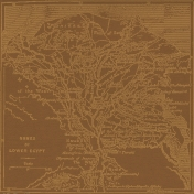 Egypt- Map Paper- Brown