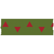Egypt- Triangle Washi Tape- Green