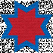 Egypt Scrap- Ohio Star Red & Blue