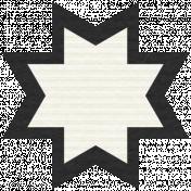 Egypt Scrap- Ohio Star Black & White