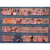 Egypt Hieroglyphs- Blue