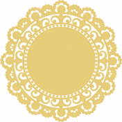 Doily 1- Yellow