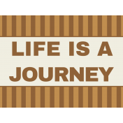 Egypt- Life Is A Journey Journal Card