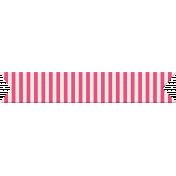 You+Me Washi Tape- Pink & White Stripes