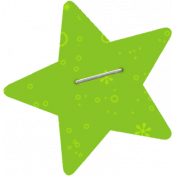 Green Stapled Star