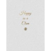 Happy Clam- Golden Ocean Journal Card