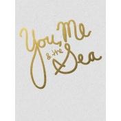 You Me & The Sea- Golden Ocean Journal Card