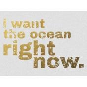 Ocean Right Now- Golden Ocean Journal Card