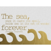 The Sea Forever- Golden Ocean Journal Card