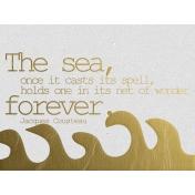 The Sea Forever- Golden Ocean Journal Card