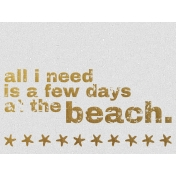 Few Days At The Beach- Golden Ocean Journal Card