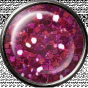 Pink Glitter Brad