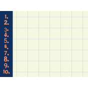 Oceanside Journal Cards- 1 through 10 Grid