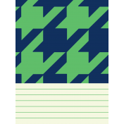 Oceanside Journal Cards- Houndstooth