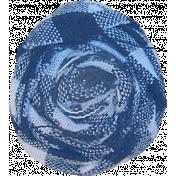 Oceanside Flower- Blue Fabric Rose