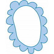 Oceanside Frame- Scalloped