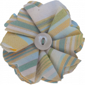 Coastal Fabric Flower- Petals & Button