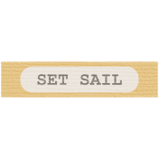 Coastal Label- Set Sail
