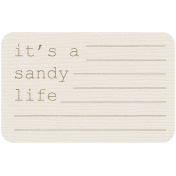 Coastal Label- It's A Sandy Life