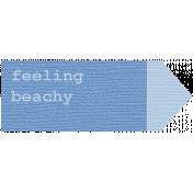 Coastal Label- Feeling Beachy
