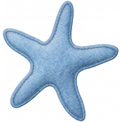 Coastal Starfish Felt- Blue